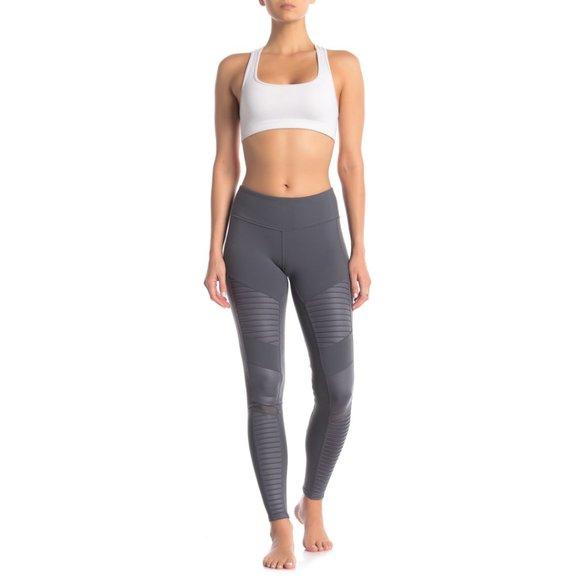 ALO Yoga Pants - ALO Yoga High Waist Moto Legging in Slate Gray